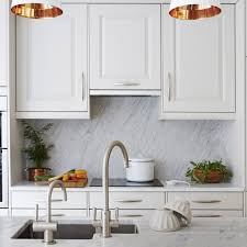 Cheap Kitchen Splashback Ideas White Kitchens Ideal Home