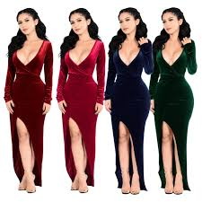 online get cheap red maxi bodycon dress with slit aliexpress com