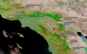 Map Of California Fires Southern California U0027s Ring Of Fire Imageo