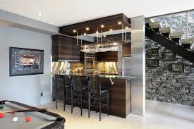 Wine Glass Storage Cabinet by Rustic Basement Bar Pictures Basement Contemporary With Stone Wall