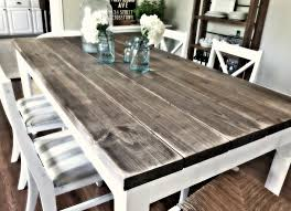 impressive wood farmhouse kitchen table gallery also how to make a
