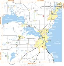 Wisconsin Counties Map by Winnebago County Wisconsin Map