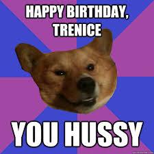 Corgi Birthday Meme - happy birthday trenice you hussy flirti corgi quickmeme