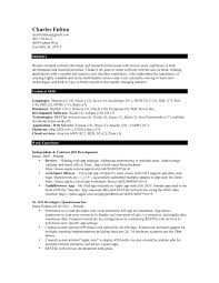 sample resume for software developer experienced lovely sample