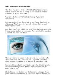 bright flashes of light in eye get rid of eye floaters and eye flashes naturally