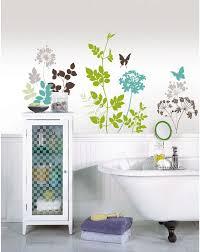 habitat floral wall art sticker kit