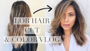 cut before dye hair lob balayage cut and color youtube
