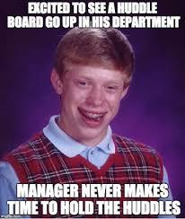 Six Picture Meme Maker - bad luck brian s huddle board lean memes lean six sigma humour