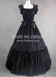 regency era gothic victorian black long party dress halloween