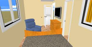 a view from the bed in cozy u0027s layout we call the