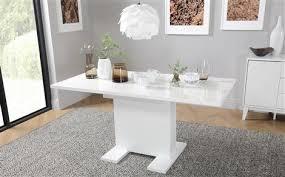 High Gloss Extending Dining Table Osaka White High Gloss Extending Dining Table And 6 Chairs Set