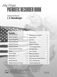 Youre A Grand Old Flag Lyrics My First Patriotic Recorder Book Recorder B J W Pepper Sheet Music