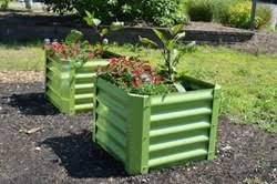 Corrugated Metal Planters by Metal Raised Garden Beds Strong Metal Gardening Beds