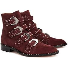 womens ugg denhali boots givenchy burgundy studded suede boots size 3 965 liked on