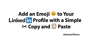 add an emoji to your linkedin profile with a simple copy and