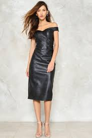 leather dress hot date the shoulder vegan leather dress shop clothes at