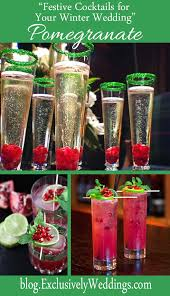 festive cocktails for your winter wedding exclusively weddings