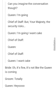 Queen Of England Meme - a wedding couple invited the queen of england as a joke and she