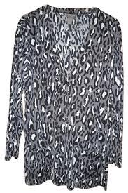animal print l shades chico s medium grey shade black and a light grey shade womens