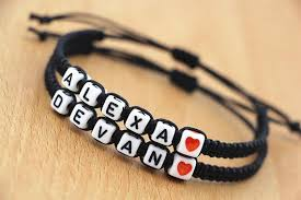 bracelet name beads images Wholesale handmade letter beads jewellery couples lovers 39 name jpg