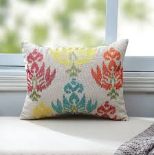 Cheap Accent Pillows For Sofa by Embroidered Retro Leaves Cotton Linen Sofa Cushions Vintage Floral