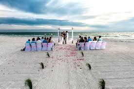 Beach Wedding Intimate Barefoot Beach Wedding Package St Pete