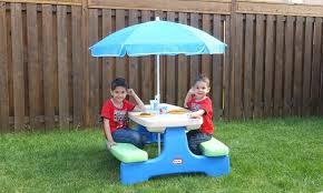 little tikes easy store picnic table little tikes easy store picnic table with umbrella archives inside