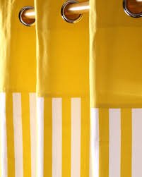 Yellow Stripe Curtains Thick Yellow Stripe Ready Made Eyelet Curtain Pair Homescapes