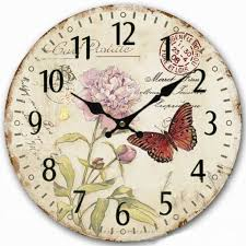 artistic wooden wall clocks rose printing home watches for living