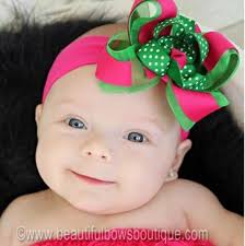 beautiful bows boutique buy dainty shocking pink and green swiss dot hair bow clip