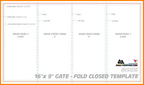 4 fold brochure template word a french fold could also be used to