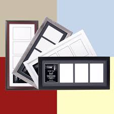 Picture Frames And Mats 5x7 multiple 4 opening picture frames with 10x24 collage mat