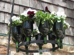 Wine Bottle Planters by Succulent Wine Bottle Planter By Oohweehandmade On Etsy