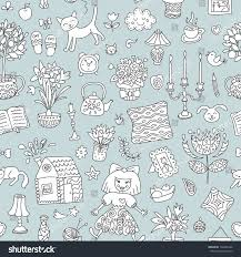 sweet home interior home sweet home seamless vector pattern stock vector 738480160