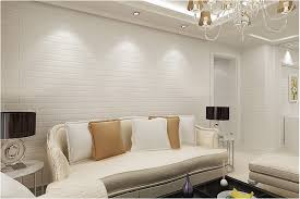 modern 3d brick off white foam thick embossed vinyl wall covering