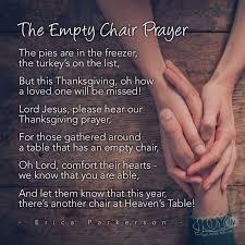 thanksgiving chair the empty chair thanksgiving prayer steemit