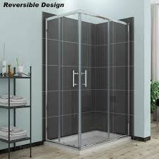 elegant shower enclosure corner entry cubicle sliding shower door