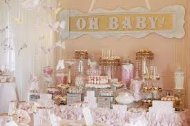 gold baby shower decorations whimsical pink and gold baby shower pretty my party