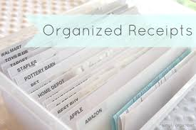 organized paper receipts simply organized
