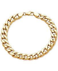 mens gold bracelet links images Macy 39 s men 39 s heavy curb link bracelet in 10k gold bracelets tif