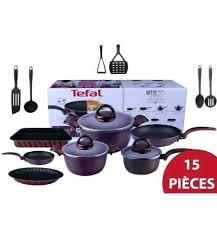 batterie de cuisine pour plaque à induction batterie cuisine tefal achat batterie de cuisine 15 piaces set