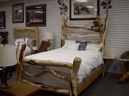 bedroom outstanding primitive log wooden bed frames design with