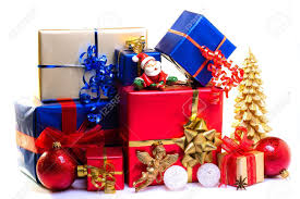 christmas boxes christmas gift boxes decorated for christmas stock photo picture
