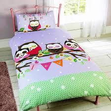 owl bedding for girls girls single duvet cover sets unicorns butterflies princess