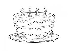 new birthday cake coloring page 19 7045