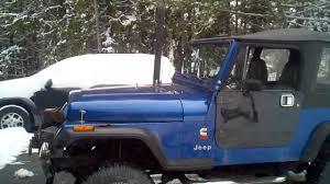 diesel jeep rollin coal 1995 jeep wrangler 4bt cummins youtube