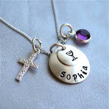 communion necklace communion sterling 1st communion necklace holy communion