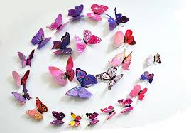 excellent quality 3d butterfly decoration wall stickers diy 3d