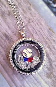 customized charms customized floating locket on chain necklace with one sport