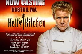 Hell S Kitchen Show News - your chance to get yelled at by gordon ramsay eater boston
